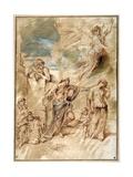 The Expulsion of Hagar Giclee Print by Giovanni Benedetto Castiglione