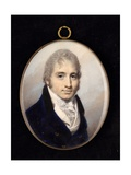 Portrait Miniature of a Gentleman in a Navy Coat and White Shirt Giclee Print by George Engleheart