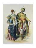 Costumes of the 17th Century Polish Nobility, 1885 Giclee Print by Eusebio Planas