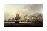 Vice-Admiral Parker's Action with the Dutch Fleet on the Doggerbank, 1781 Giclee Print by Dominic Serres