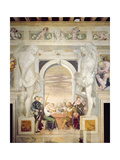 The Game of Cards Giclee Print by Giovanni Antonio Fasolo