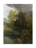 Landscape with a Pool Giclee-trykk av Gainsborough, Thomas