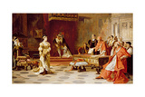 The Trial of Queen Katherine, C.1880 Giclee Print by Laslett John Pott
