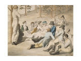 Resting Group in Pichelswerder Near Berlin, 18 August 1812 Giclee Print by Johann Heinrich Stuermer