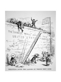 The 'Chinese Wall' around the Usa, Published in 'Harper's Weekly', 23rd July, Commenting on the… Giclee Print by Thomas Nast