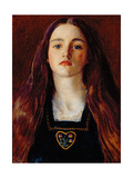 Portrait of a Girl, 1857 Giclee Print by John Everett Millais