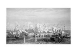 Battle of Fatshan Creek, China on 1st June, 1857 in Which a Royal Navy Force Defeated a Flotilla… Giclee Print by Oswald Walter Brierly