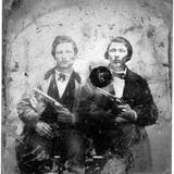 Jesse and Frank James, C.1866-76 Photographic Print