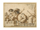The Rest on the Flight Giclee Print by  Guercino (Giovanni Francesco Barbieri)