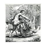 Hercules Fighting a Lion, C.1660, by Frans Van Den Wyngaerde (1614-1679) Giclee Print by Peter Paul Rubens
