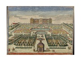 View of Frederiksberg Palace in Denmark from the Palace Garden, Augsburg, 1750 Giclee Print by Georg Balthasar Probst