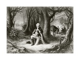 George Washington Prays at the American Revolutionary War Encampment of Valley Forge During the… Giclee Print