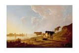 Cows Near a River Giclee Print by Aelbert Cuyp