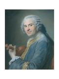 Jean-Joseph Cassanea De Mondonville, 1747 Giclee Print by Maurice Quentin de La Tour