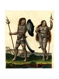 Aborigines of England: Early Britons with their Body Decorations, 1804 Giclee Print by John Chapman