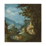Landscape with Bridge Giclee Print by Gillis van Valckenborch