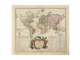 Map of the World, Published by Preussische Akademie Der Wissenschaften, Berlin 1753 Giclee Print by Leonhard Euler