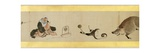 Detail of Handscroll with Miscellaneous Images, Edo Period, 1839 Giclee Print by Katsushika Hokusai
