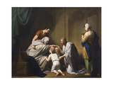 Jacob Blessing Ephraim and Manasseh, 1766-68 Giclee Print by Benjamin West