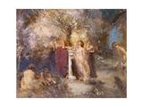 Romantik Giclée-tryk af Charles Sims