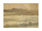 Chelsea on Ice Giclee Print by James Abbott McNeill Whistler