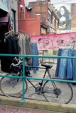Bicycle at Metal Bars , Melbourne , Australia Photographic Print