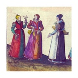 English Women of the Elizabethan Era, 1598 Giclee Print by Joris Hoefnagel