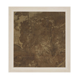 Battle Scene with Elephants Giclée-tryk af Giulio Romano
