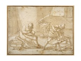 Study for the Holy Family in the Carpenter's Shop Giclee Print by Luca Cambiaso