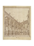 A Palace Courtyard, Design for the Stage Giclee Print by Giuseppe Bibiena