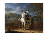 Equestrian Portrait of Henri De La Tour D'Auvergne before Maastricht 1673, after 1675 Giclee Print by Adam Frans van der Meulen