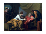The Meeting of Lear and Cordelia, 1784 Giclee Print by Benjamin West