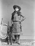 Miss Annie Oakley, Little Sure Shot, Buffalo Bill's Wild West, C.1890-1900 Photographic Print by  Elliott and Fry Studio