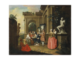 A Concert by a Portico, 1739 Giclee Print by Peter Jacob Horemans