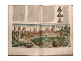 View of the City of Cologne, Page from Schedelsche Weltchronik by Hartmann Schedel, Published by… Giclee Print by Michael Wolgemut Or Wolgemuth