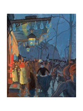 Avenue De Clichy, Paris, 1887 Giclee Print by Louis Anquetin