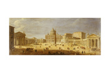 Piazza S. Pietro, Rome Giclee Print by Gaspar van Wittel