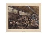 Steel Processing Plant in France, Printed by Georges Dufrenoy, Paris, 1889 Giclee Print by Jules Ferat