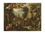 Rustic Landscape, 1590s Giclee Print by Karel Van Mander