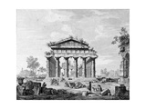 The Temple of Juno at Paestum Giclee Print by Luigi Balugani