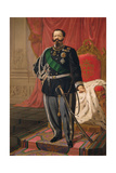 Portrait of Victor Emmanuel II of Italy Giclee Print by Cesare Campini