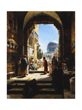 At the Entrance to the Temple Mount, Jerusalem, 1886 Giclee Print by Gustave Bauernfeind