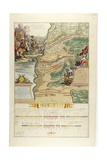 Map of the Battle of Blenheim in the War of the Spanish Succession, Published by Anna Beeck, Den… Giclee Print by Jan van Vianen