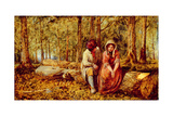 The Woodman's Courtship Giclee Print by John H. Dell