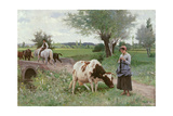 The Well Kept Cow, 1890 Giclee Print by Edouard Debat-Ponsan