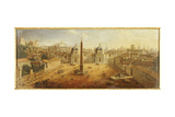 Piazza Del Popolo, Rome Giclee Print by Gaspar van Wittel