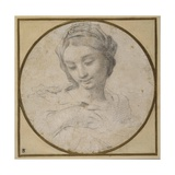 Head and Shoulders of the Virgin Giclée-tryk af Carlo Cignani