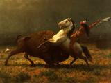 The Last of the Buffalo, C.1888 Giclée-tryk af Albert Bierstadt