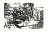 """I Saw, to My Amazement, Peggotty Burst from a Hedge and Climb into the Cart"", Illustration from… Giclee Print by Frederick Barnard"