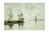 Port Scene, C.1880 Giclee Print by Eugène Boudin